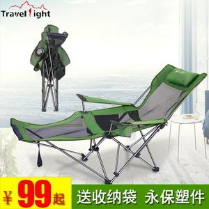 户外折叠躺椅露营沙滩躺椅办公午休椅家用休闲凳便携式靠背钓鱼椅