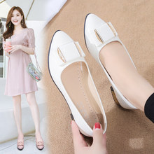 Morning Korean Flat-soled Shoes 2009 Spring New Top LO Professional Women's Shoes Square Button Drill Sexy Single Shoes