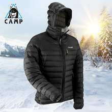 CAMP Camp, down jacket, outdoor men's thickening, big code, body repair, warmth, winter mountaineering, fishing jacket, duck down.