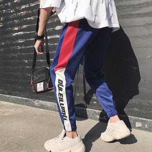 hiphop<span class=H>裤子</span>男宽松欧美街头个性潮牌束脚韩版潮流小脚运动嘻哈裤男