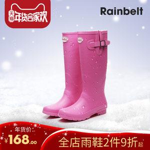 RAINBELT欧美英伦冬<span class=H>雨鞋</span>保暖女成人高筒雨靴<span class=H>橡胶</span><span class=H>雨鞋</span>时尚防水胶靴
