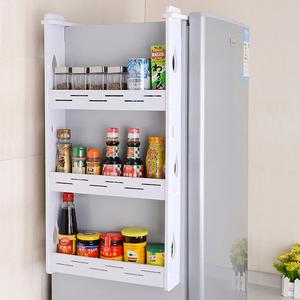 冰箱挂架侧壁挂架收纳厨房<span class=H>用品</span>置物架调味品料侧边储物架隔板多层