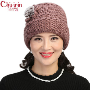 老太太帽子中老年人针织帽女秋冬天奶奶<span class=H>毛线帽</span>加厚加绒保暖妈妈帽