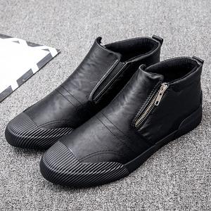 2019春<span class=H>男鞋</span>新款皮<span class=H>鞋</span>休闲百搭懒人<span class=H>鞋</span>一脚蹬<span class=H>鞋子</span>男潮<span class=H>鞋</span>韩版潮流英伦