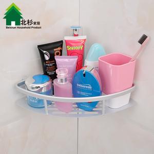 双庆吸盘浴室卫生间置物架壁挂卫浴三角架厕所<span class=H>用品</span>架子厨房收纳架
