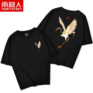 中国风<span class=H>女装</span>2019新款潮流大码半袖纯棉宽松运动夏季国潮短袖T恤女