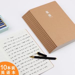 【町零旗舰店】10本装牛皮纸英语笔记本