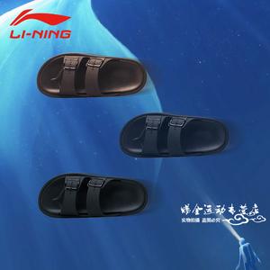 中国李宁拖鞋<span class=H>男鞋</span>子2019新款AGAP005休闲沙滩品牌运动<span class=H>凉鞋</span>夏男士