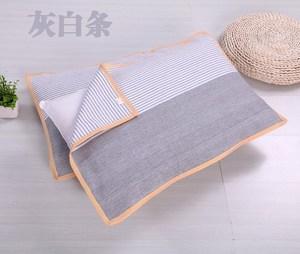 纯绵老粗布内搭布料厚枕巾居家长棉线男可拆洗布艺棉线织布锦