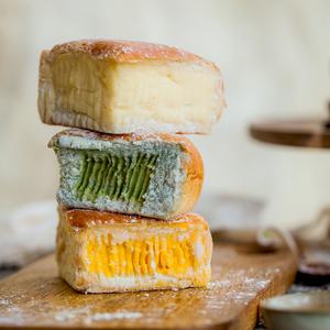 巧师傅人气芝士奶酪包抹茶味芒果芝心包零食夹心面包早餐包<span class=H>美食</span>