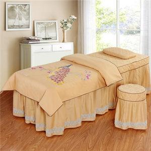 新款美容<span class=H>床罩</span>四件套高档欧式按摩美体纯棉床套推拿理疗美容院专用