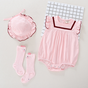 网红婴儿服夏天可爱公主婴幼儿连体衣ins风女宝宝夏装三角哈衣1岁