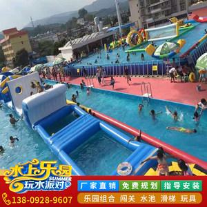 大型户外支架水池<span class=H>游泳池</span>移动水上儿童乐园加厚充气水池<span class=H>游泳池</span>