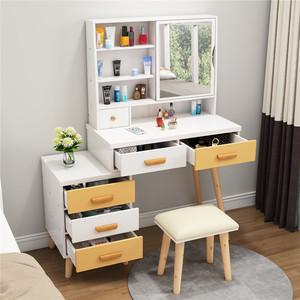 <span class=H>梳妆台</span>卧室化妆桌子创意组合柜ins风北欧网红抖音小户型多功能台