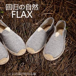 新中国风<span class=H>男鞋</span>亚麻底布鞋夏季透气吸汗防臭一脚蹬懒人鞋棉麻休闲草
