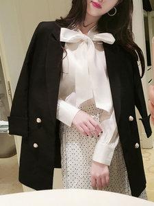 小<span class=H>西装</span>外套女2019春装新款韩版时尚中长款修身休闲西服上衣长袖