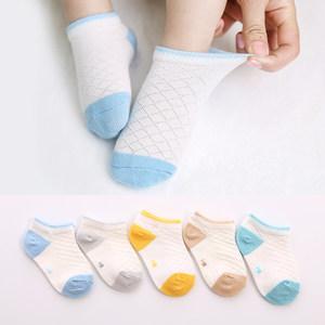 儿童<span class=H>袜子</span>夏季薄款网眼透气1-3-5-7-9岁婴儿宝宝纯棉男女中筒船袜