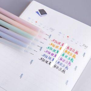 五彩简约黑多套装弹0.38mm彩色签字时尚签字笔漂亮儿童中笔