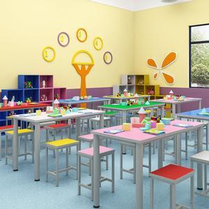 加固靠背椅防滑大方学生<span class=H>课桌椅</span>四脚桌大厅无味绘画桌个性写字台