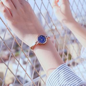 Kimio小表盘手表女简约精致女士细带小巧手镯式气质防水链条女表