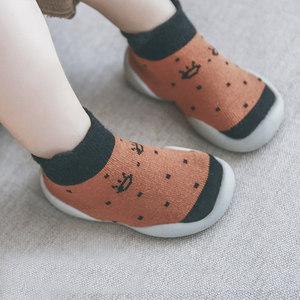 宝宝地板鞋<span class=H>袜</span>防滑软底室内儿童学步防掉纯棉硅胶婴儿<span class=H>袜</span>子鞋春秋夏