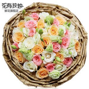 33朵红玫瑰花束礼盒送爱人全国送花北京<span class=H>鲜花</span>速递同城上海南京合肥