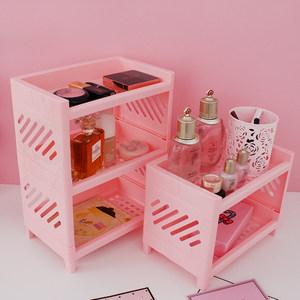 桌面<span class=H>置物架</span>卧室迷你二三层创意架置物厨房办公桌多功能塑料收纳架