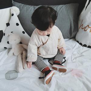 允儿妈男婴童冬季纯色偏襟<span class=H>棉衣</span>幼儿宝宝新款外套儿童时尚棉服上衣