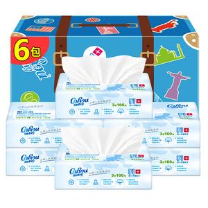 【可心柔】婴儿柔纸巾6包100抽