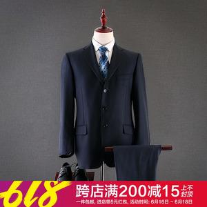 【喜】80羊毛~男士修身纯色<span class=H>西服</span>2019春装新款商务套装潮折扣<span class=H>男装</span>