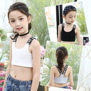 儿童跳舞背心短款露脐 女童夏季运动瑜伽小内衣打底衫童装潮上衣