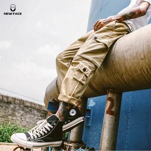 美式怀旧<span class=H>工装裤</span>男女潮牌余文乐宽松阔腿裤ins超火休闲裤ulzzang裤