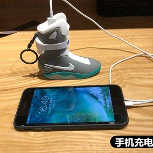 可爱发光mag鞋子充电宝个性回到未来AJ1移动<span class=H>电源</span>迷你球鞋情侣礼物