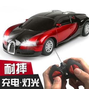儿童玩具车男孩遥控跑车玩具赛车布加迪模型漂移可充电动汽车玩具
