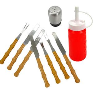家用十件套小刀子小叉子油壶调料盒户外烧烤野炊野餐工具<span class=H>用品</span>配件