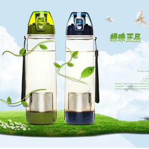 便携防漏大容量塑料创意运动水杯带过滤网泡茶杯<span class=H>茶隔</span>水壶车载杯子