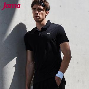 joma运动<span class=H>polo衫</span> 男士夏季新款翻领运动短袖t恤修身健身快干T恤