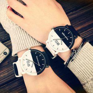 男女学生<span class=H>手表</span>简约休闲复古时尚潮流韩版中性大表盘橡胶带情侣腕表