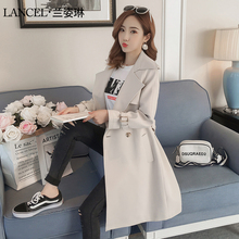 Windswear Women's Mid-long Style, Spring and Autumn 2019 New Korean Edition of Moral Cultivation Temperament, Popular Women's Overcoat, Leisure Thin Coat