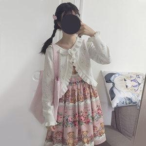 春秋日常洛丽塔泰迪小熊玫瑰花园南瓜马车软妹Lolita洋装<span class=H>连衣裙</span>