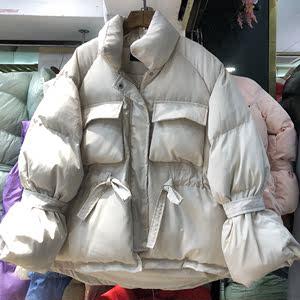 面包服女短款ins蓬蓬学生冬季韩版宽松潮<span class=H>棉服</span>女2018新款百搭时。