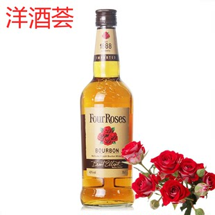 洋酒现货FOUR ROSES WHISKY 美国四玫瑰波本威士忌700ml 40度