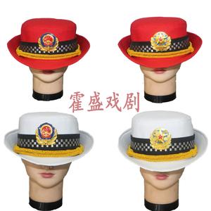 全棉<span class=H>帽子</span>大檐帽舞台演出用品,军乐队服装<span class=H>配件</span>,女式军鼓帽贝雷帽
