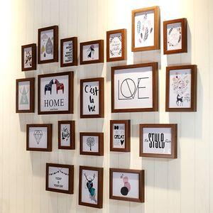 心形 纸照片墙相片墙创意装饰客厅企业文化<span class=H>墙纸</span>办公室励志<span class=H>贴画</span>
