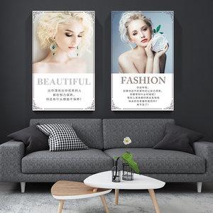 美容院装饰品养生会所海报图宣传画广告贴画美女企业文化墙壁挂画