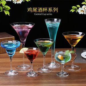 鸡尾酒杯<span class=H>高脚</span>杯架子套装玻璃杯杯发光复古倒挂<span class=H>灯泡</span>沙滩架杯垫七彩