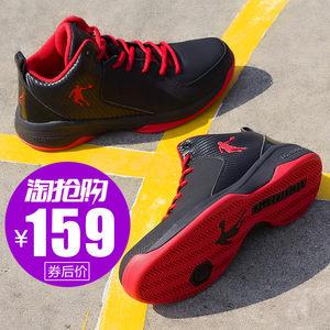 乔丹<span class=H>篮球鞋</span>2019新款夏季高帮欧文毒液球鞋战靴学生减震低帮运动鞋