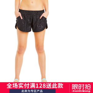 女子<span class=H>单</span>层跑步<span class=H>运动</span><span class=H>短裤</span> 健身户外训练速干松紧带口袋透气紧身<span class=H>短裤</span>