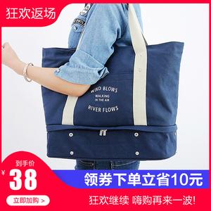 旅行健身单肩包手提包伸缩衣物<span class=H>鞋子</span>整理袋大容量休闲包便携拉杆包