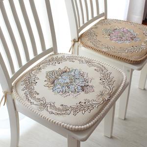 欧式餐椅垫<span class=H>坐垫</span> 高档加厚田园布艺餐桌椅子<span class=H>坐垫</span> 可拆洗凳子垫椅垫